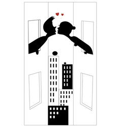 love silhouette vector image vector image