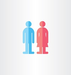 Man and woman toilet symbols vector