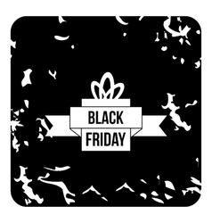 New black friday icon grunge style vector