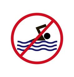 No Swimming Sign vector image