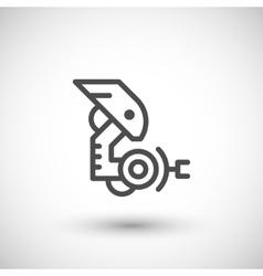 Robotic arm line icon vector image vector image