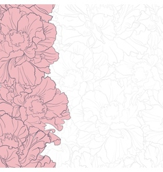 Romantic floral background with vector image vector image