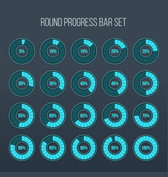 round progress bar circle vector image
