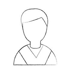 Student graduated avatar character vector