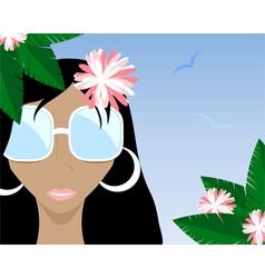 summer girl black vector image vector image
