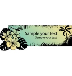 tropical floral grunge banners vector image vector image