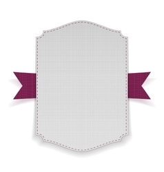 White banner on purple ribbon vector