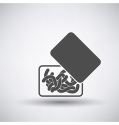 Worm container icon vector
