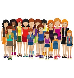 Group of people with different ages vector