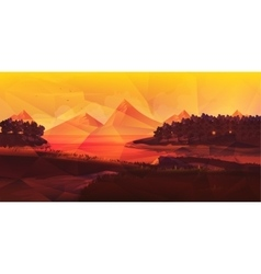 Low poly naturelandscape vector