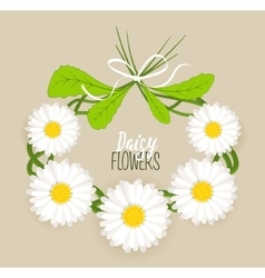 Meadow flower wreath vector