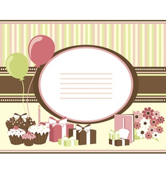 Celebration card vector image