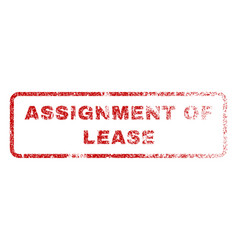 assignment of lease rubber stamp vector image