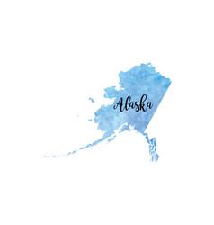 abstract alaska map vector image