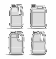 Monochrome canisters vector