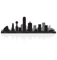 Dallas USA city skyline silhouette vector image