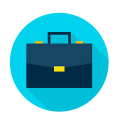 Business briefcase flat circle icon vector