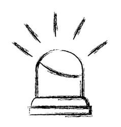 Light alarm isolated icon vector