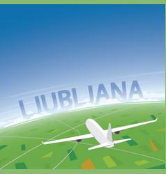 Ljubljana flight destination vector
