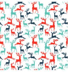 pattern of silhouette deer vector image