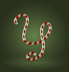 Candy cane abc y vector