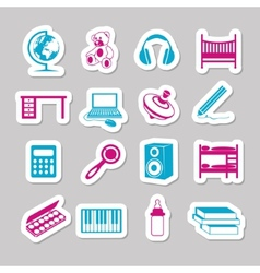 Children room stickers vector