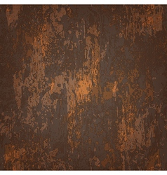 Abstract seamless texture of dark brown rusted vector