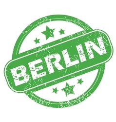 Berlin green stamp vector