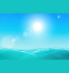 abstract sea and sky background vector image