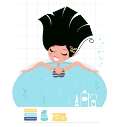 Beauty bath vector