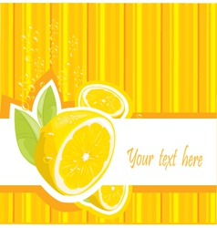 Lemon card vector