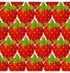 Strawberries seamless isolated vector
