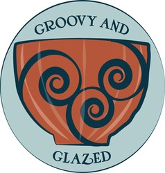 Groovy and glazed vector