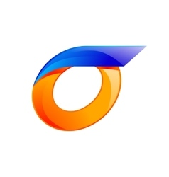 O letter blue and orange logo design fast speed vector