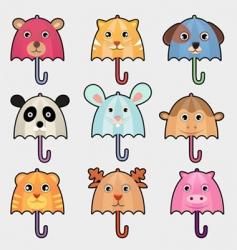 animal umbrella vector image