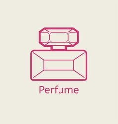 Aroma perfume line icon thin linear parfume signs vector