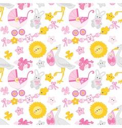 Baby girl seamless pattern vector