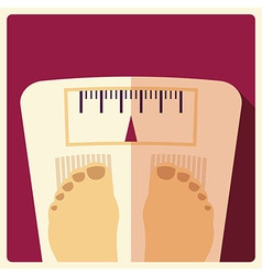 Bathroom weight scales flat design vector image