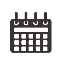 Black calendar symbol icon design vector