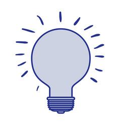 Blue silhouette of light bulb idea icon vector