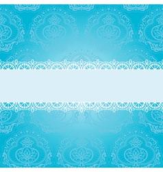 blue square napkin vector image vector image