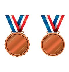 Bronze medals vector