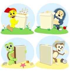 cartoon animals represent vector image