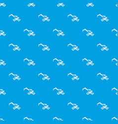Crane truck pattern seamless blue vector