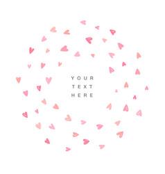 Cute love background frame design vector