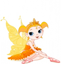 Fairy ballerina vector
