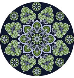 Floral ethnic mandala vector