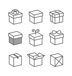 Gift Box Icons Holiday Presents vector image vector image