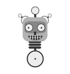 Happy robot toy vector