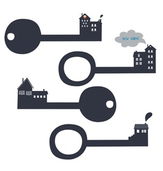 key from your new home vector image